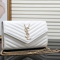 YSL Women Fashion Leather Shoulder Bag Crossbody