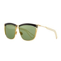 Metal Wire Rectangle Sunglasses, Black/Gold - Dior - Black gold