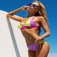 Mixed Colors Triangle Bikini
