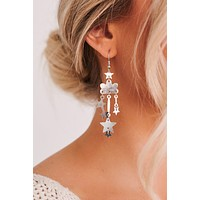 Chasing The Storm Dangle Earrings (Silver)