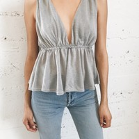 Olympia Top - Pale Gray
