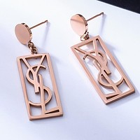 YSL Yves Saint Laurent Stylish Women Pendant Earrings Accessories Jewelry