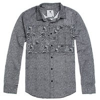 On The Byas Ritchie Noise Print Long Sleeve Woven Shirt at PacSun.com