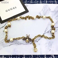 Fashion Bee Pearl Waist chain