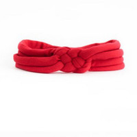 Red Celtic Sailor Knot Headband  - Baby, Infant, Toddler, Teen, Adult Knotted Headwrap - Turban Jersey Headband