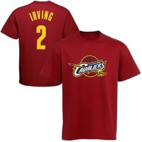 Majestic Kyrie Irving Cleveland Cavaliers Player T-Shirt - Wine