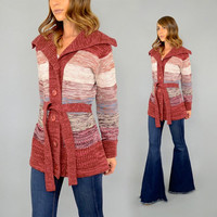 70's Space Dye WRAP Sweater Cardigan