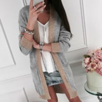 Autumn and winter new loose long cardigan sweater sweater