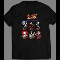 HORROR FIGHTER RETRO VIDEO GAME PARODY HALLOWEEN SHIRT