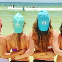 Ladies' Monogrammed Baseball Cap by Mad about Monograms - Choose from 20 Colors