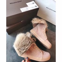 Best Online Sale Louis Vuitton LV Winter Sheepskin Snow Boots
