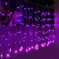 Innoo Tech 144 Led Curtain Decorative String Lights for Wedding, Party, Home Window/Blind Decorations,Fairy Purple Starry Indoor Lights