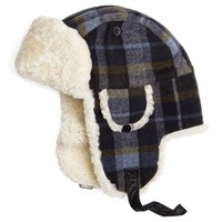 Wool Plaid and Shearling Trapper - Brooks Brothers