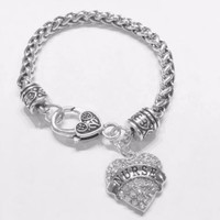 Crystal Nurse Graduation Christmas Gift For RN LPN Charm Bracelet