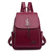 Fashion Soft Leather Backpack Bags
