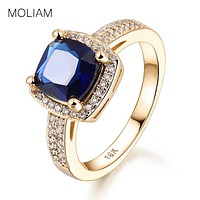 MOLIAM Rings for Women 2017 New Fashion Green/Blue Crystal Cubic Zirconia Engagement Ring Jewelry Accessories MLR352/MLR353