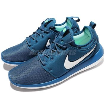 Nike Roshe Two 2 Rosherun Blue White Men Running Shoes Sneakers 844656-402