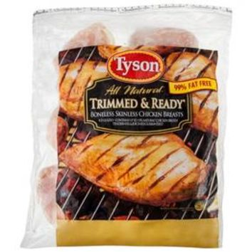 Tyson All Natural Boneless Skinless Chicken Breast 40 oz