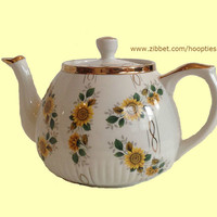 Vintage Teapot by Ellgreave with Sunflowers