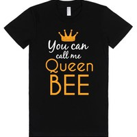 You Can Call Me Queen Bee Dark Fitted Tee-Female Black T-Shirt