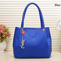 Yves Saint Laurent 2018 new trend casual personality portable handbag Blue