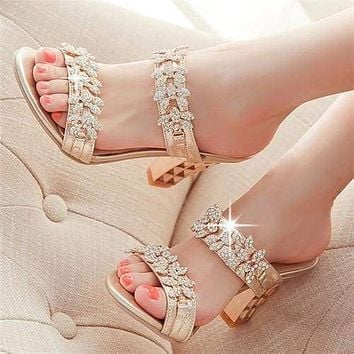 Rhinestone Ladies Sandals