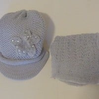 KNIT HAT AND SCARF SET Gray  For $0.01 when you spend over $30.00
