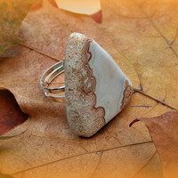 Stone Agate Ring, Own A Piece of the Rock, Adjustable ring, Direct  checkout