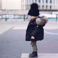 New Children Winter Jackets Thick Down Jacket For Boys Cartoon   Doudoune Enfant Garcon Winter Boys Ourterwear Coat Kids Jacket