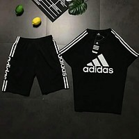 Adidas black and white double pole sports casual suit.N-AG-CLWM