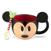 Mickey Mouse Mug and Spoon Set - Holiday
