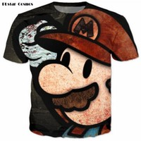 Super Mario party nes switch PLstar Cosmos Vintage  T-Shirts Tees Women Men Cute Cartoon 3D t shirt Funny t shirts Summer Casual tee plus size 3XL AT_80_8