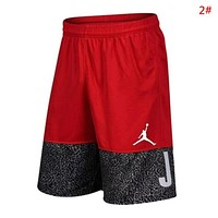 Jordan New fashion letter people print couple shorts 2#