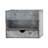 Galvanized Metal Wall Organization Station