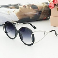 Chloe Popular Men Women Personality Summer Sun Shades Eyeglasses Glasses Sunglasses Black I-A-SDYJ
