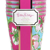 Lilly Pulitzer Tumbler Set of 8- Big Flirt