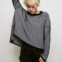 Don't Ask Why Boxy Sweater, Black
