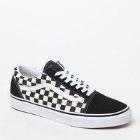Vans Primary Check Old Skool Black and White Shoes at PacSun.com