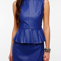 Urban Outfitters - Lovers & Friends Faux Leather Peplum Dress