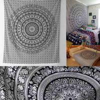 Bedding Outlet Tapestry Gery Beautiful Wall Art Tapestry 140X216cm Indian Sheet Belgium New Bedding Home Decor