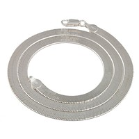 925 Sterling Silver 5mm 18 Inch Herringbone Chain Necklace