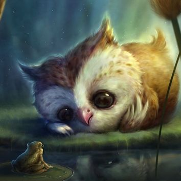 """Owlie And Friend"" - Art Print by Shreya Shetty"
