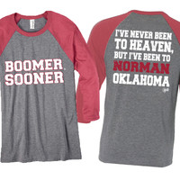 3/4 length Sleeve OU - Never been to Heaven but I've been to Norman