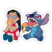 Lilo and Stitch eating