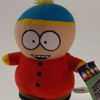 "Comedy Central South Park Cartman Plush 7"" Stuffed Toy Red Jacket Hat"