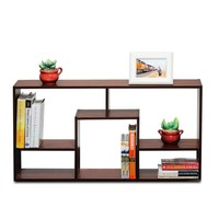 Furinno Boyate Magic Cube 5-grid Walnut Storage Rack | Overstock.com Shopping - The Best Deals on Media/Bookshelves