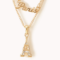Layered Paris Charms Necklace