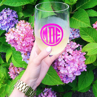 Personalized Acrylic Stemless Wine Glass, 19oz