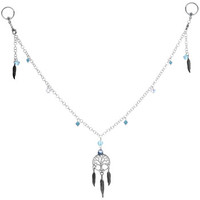 """Handcrafted 14 Gauge 1/2"""" Summer Dreamcatcher BCR Nipple Chain 