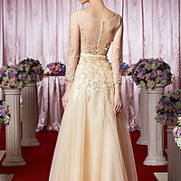 Tulle Sequin Embroidered Wedding Dress
